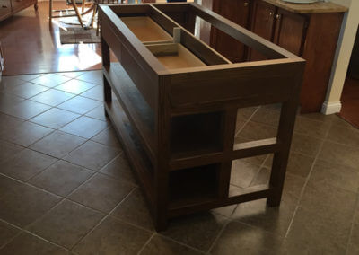 Oak Kitchen Island Cabinet Project