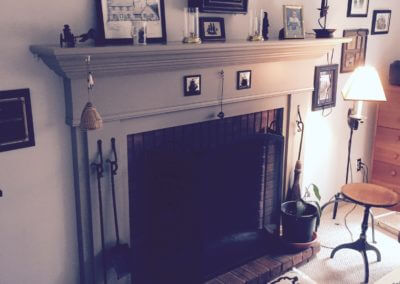 custom wood mantle
