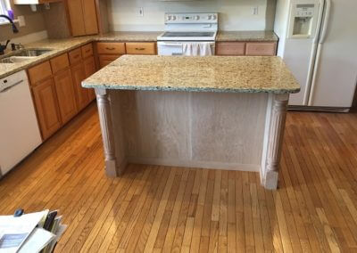 kitchen remodel island cabinet project