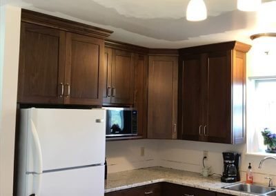 kitchen oak cabinet project